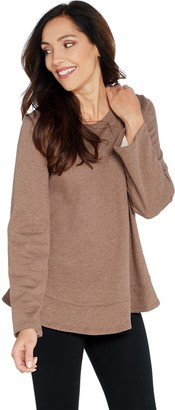 LOGO Lounge by Lori Goldstein Classic French Terry Top w/ Flounce