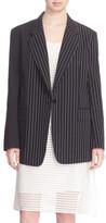 DKNY Mixed Pinstripe Cotton Jacket