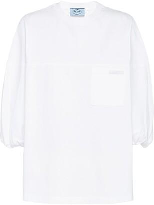 Prada puff-sleeve T-shirt