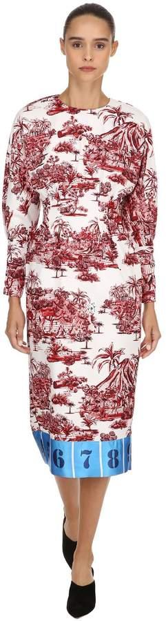 Stella Jean Printed Twill Dress