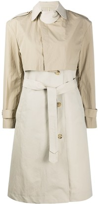 Deveaux Two Tone Trench Coat