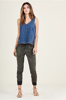 True Religion Cameron Boyfriend Zip Womens Pant