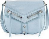 Botkier Trigger Leather Saddle Bag, Sky