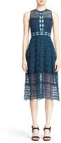 Jonathan Simkhai Women's Mixed Embroidery Midi Dress