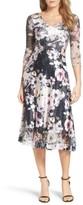 Komarov Women's Print Lace & Charmeuse Dress