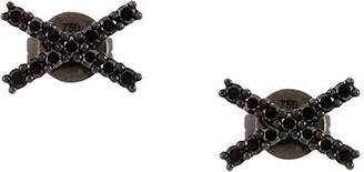 Alinka black rhodium 18kt white gold KATIA diamond stud earrings