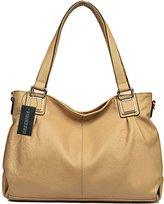 Greeniris Ladies Genuine Leather Shoulder Bags Totes Bags Top-Handle Handbags for Women