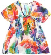 Milly Minis Leafs Printed Cotton Muslin Caftan