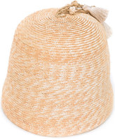Ermanno Scervino tassel detail bucket hat - women - Cotton/Straw - M