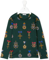 Dolce & Gabbana printed long sleeve top