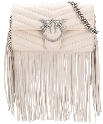 Pinko Love fringed shoulder bag