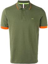 Sun 68 contrast polo shirt - men - Cotton/Spandex/Elastane - M