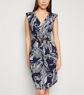 New Look Mela Floral Belted Dress