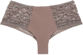 Wacoal Corded Lace And Stretch-jersey Mid-rise Briefs