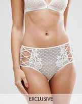 Wolfwhistle Wolf & Whistle Spot Mesh Applique Lattice Side Brief