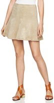 BCBGMAXAZRIA Nicky Faux Suede Mini Skirt
