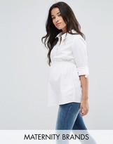 Mama Licious Mama.licious Mamalicious Short Sleeve Woven Shirt