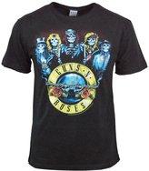 Amplified Men's Mens Official Guns n Roses Skeleton T Shirt Black