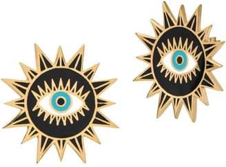 GABIRIELLE JEWELRY Evil Eye Sunburst Earrings