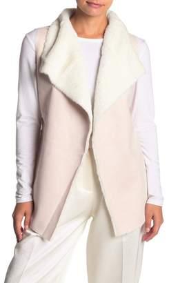 OnTwelfth Faux Fur & Faux Suede Vest