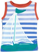 Charlie Rocket Sailboat Color Block Tank (Baby) - White-3-6 Months