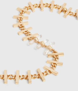 AllSaints Camila Gold Tone Semi-Precious Crystal Quartz Necklace