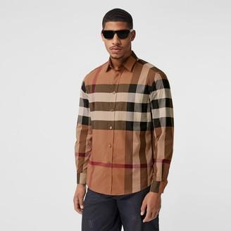 Burberry Check Stretch Cotton Poplin Shirt