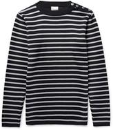 S.n.s. Herning - Naval Striped Virgin And Merino Wool-blend Sweater