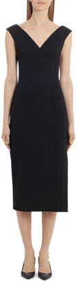 Dolce & Gabbana Stretch Crepe Midi Sheath Dress