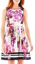Liz Claiborne Sleeveless Fit-and-Flare Dress