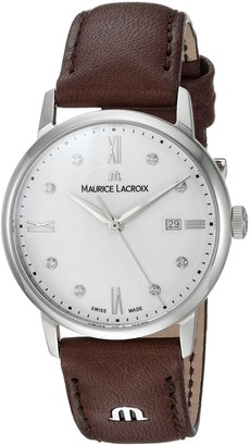 Maurice Lacroix Women's Eliros Stainless Steel Quartz Watch with Leather Calfskin Strap