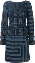 Fendi printed denim dress