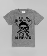 Urban Smalls Heather Gray 'To Arr Is Pirate' Tee - Toddler & Boys