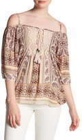 Angie Cold Shoulder Embroidered Blouse