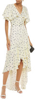 Thumbnail for your product : Paper London Canyon Asymmetric Printed Satin-crepe Wrap Dress
