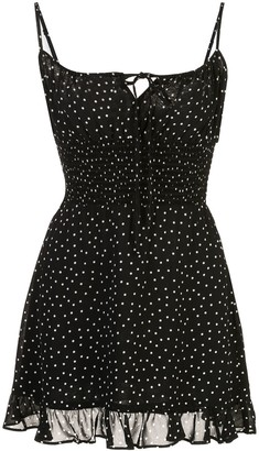 Reformation Fraise polka-dot dress