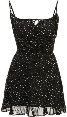 Reformation Fraise polka-dot dress