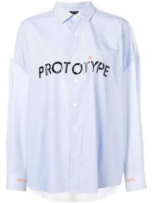 OMC 'Prototype' pinstripe shirt
