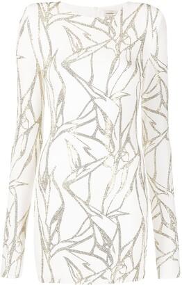 Alexandre Vauthier Bead-Embellished Mini Dress