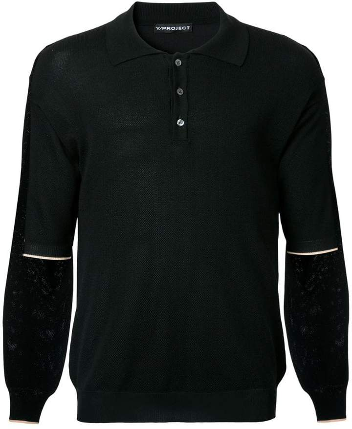 Y/Project Y / Project layered polo shirt