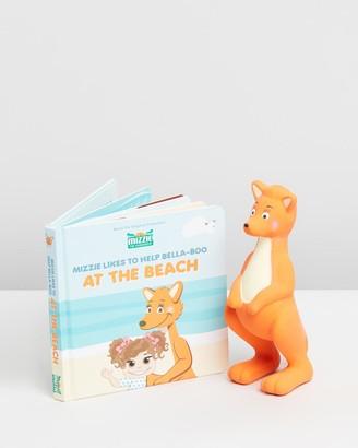 Mizzie The Kangaroo Baby Board Book Gift Set with Teething Toy