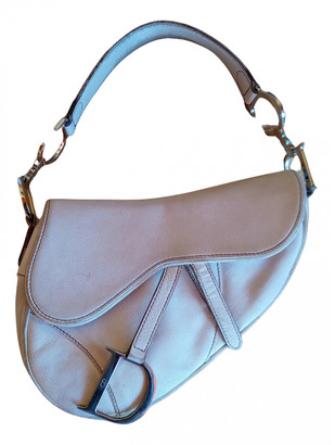 Christian Dior Saddle White Leather Handbags