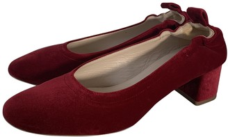 Everlane Red Velvet Heels