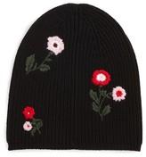 Kate Spade Women's In Bloom Merino Wool Knit Beanie - Black