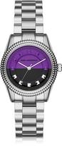 Karl Lagerfeld Petite Stud Silver Tone Stainless Steel Women's Watch