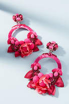 Ranjana Khan Magenta Flower Drop Earrings