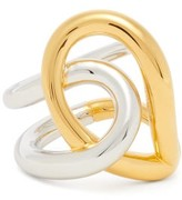 Charlotte Chesnais Blaue 18kt Gold-plated Ring - Womens - Silver Gold