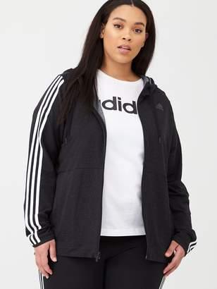 adidas Plus 3s Knt Fz Hood - Black