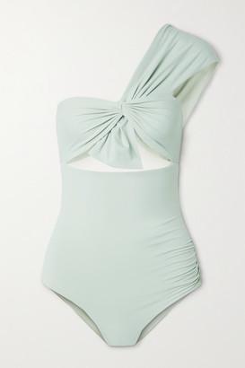 Marysia Swim Venice One-shoulder Cutout Swimsuit - Gray green