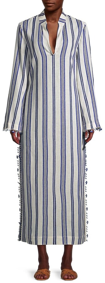 Thumbnail for your product : Tory Burch Stephanie Stripe Caftan